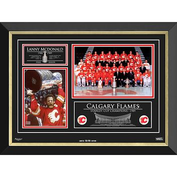 LANNY MCDONALD & THE CALGARY FLAMES STANLEY CUP CHAMPS, LTD ED /89