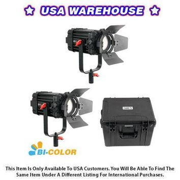 2 Pcs CAME-TV Boltzen 60w Fresnel Fanless Focusable LED Bi-Color Kit - USA Warehouse