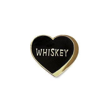 Whiskey Heart Pin