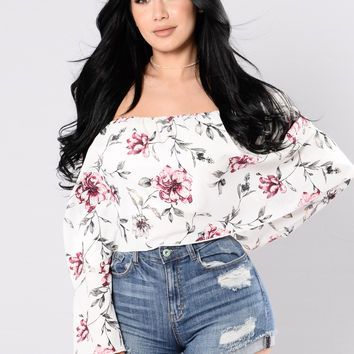 Summertime Sadness Top - Ivory