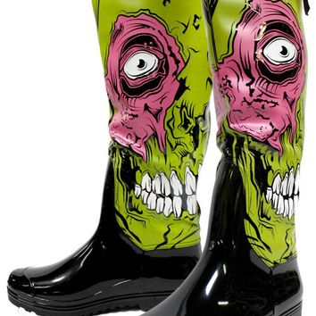IRON FIST ZOMBIE STOMPER RAIN BOOTS - Shoes - Gals
