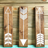 Fully Customizable set of 3 wall arrows. Wall arrows. Rustic wall arrows. Gallery wall arrows. Gallery Wall Decor. Rustic wedding decor.