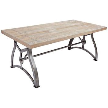 Beckett Industrial Wood Top and Steel Coffee Table - #15K09 | Lamps Plus