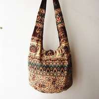 hippie sling bag, women ethnic messenger bag, boho crossbody ,aztec cross body bag, tribal bag, nepali bag,indian bag, weekender bag