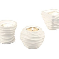 Young's 11429 Resin Tea Light Candle Holder, 3-Inch, Set of 3