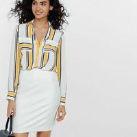 Slim Fit Yellow Stripe Portofino Shirt from EXPRESS