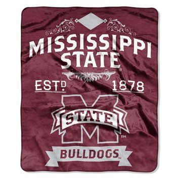 Mississippi State Bulldogs NCAA Label 50 x 60 Raschel Throw