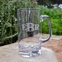 Monogrammed Tritan Plastic Beer Mugs - set of 6
