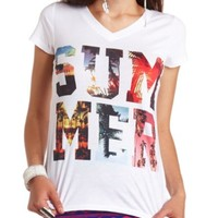 SUMMER V-NECK GRAPHIC TEE