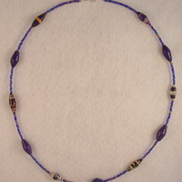 NKBFL05 Necklace made with Handmade Paper Beads