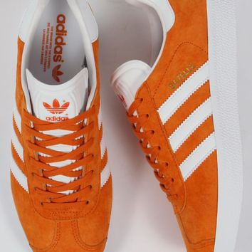 Adidas Gazelle Trainers Orange White,Suede,Originals, Og,80s,90s style
