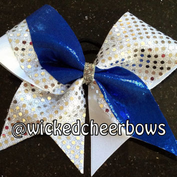 Cheer Bow  Dallas Cowboys Inspired by WickedCheerBows on Etsy