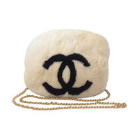 Chanel Hand Muff White & Black