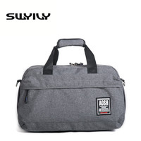 Flax Cotton Small Size Gym Bag For Men And Women Fitness Training Sports Handbag Solid Color Traveling Shoulder Bag