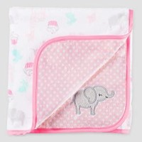Baby Girls' Animals Velboa Blanket Candy Pink OSZ - Just One You™ Made by Carter's®