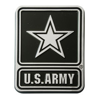 Army Black Knights NCAA Chrome Car Emblem (2.3in x 3.7in)