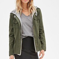 Striped Hood Utility Jacket