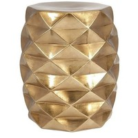 Sphinx Metallic Gold Accent Garden Stool