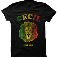 CECIL THE LION T-SHIRT 2015 ZIMBABWE SHIRTS WE LOVE CECIL LADIES TOPS UNISEX TEE TEES S M L XL CHEAP GIFTS KIDS SHIRTS AFRICA SHIRTS from CELEBRITY COTTON