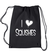 I Love Squishies Drawstring Backpack