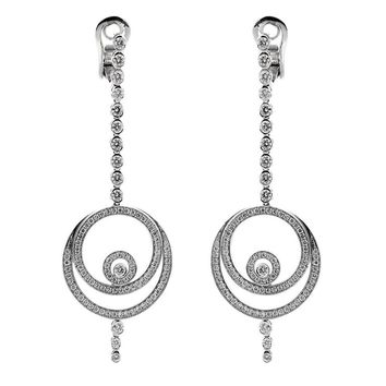 Audemars Piguet Millenary Diamond Drop Earrings
