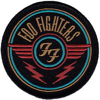 Foo Fighters Iron-On Patch Round Wings Logo