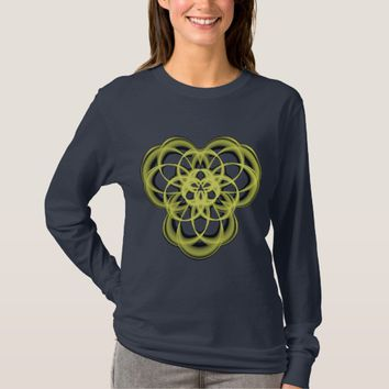 Women's Basic Long Sleeve Sacred Geometry T-Shirt