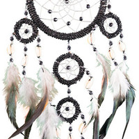 Beaded Rings - Black and Silver - Dreamcatcher