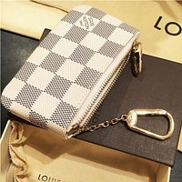 LV Louis Vuitton Stylish Unisex Monogram Canvas Key Pouch I