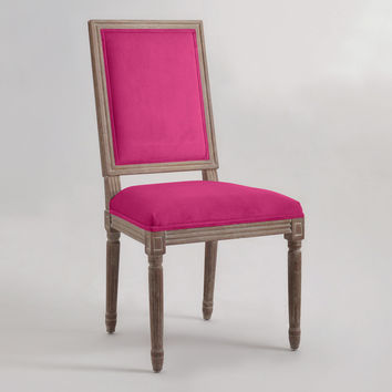 Fuchsia Square-Back Paige Dining Chairs, Set of 2 - World Market