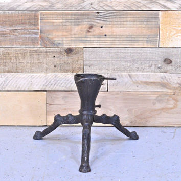 Vintage Cast Iron Tree Stand, Cast Iron Christmas Tree Stand