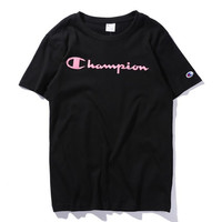 champion Short-sleeve T-shirt casual cotton sport bottom shirt youth tee top