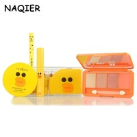 NAQIER Fashion Cute Makup Tool Kit 4 Pcs Cosmetics Including Eyeshadow Lipstick with Cosmetics Makeup Set for Gift
