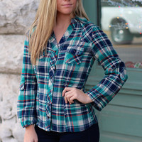 All About Plaid Top {Jade Mix}