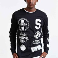Stussy Dot Collage Long-Sleeve Tee- Black