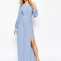 ASOS Long Sleeve Slinky Maxi Dress