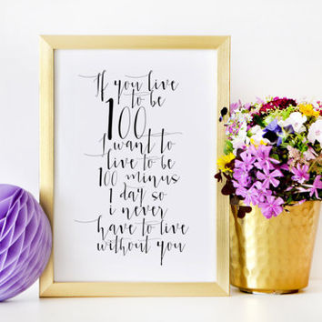 Winnie the Pooh quote,Inspirational art print,Winnie the Pooh Print,Nursery Gift,Anniversary Print,Wedding Gift,Wedding Signs,Love Quotes
