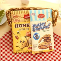 1X Cute Funny Creative Butter Cookies Zipper Pen Pencil Bag Student Stationery School Office Supply Makeup Storage Kid Gift
