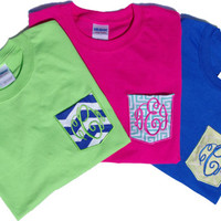 YOUTH Monogrammed Pocket T-Shirt Kids Mix n' Match shirts and pockets
