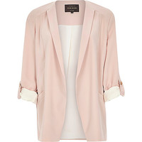 River Island Womens Pink crepe relaxed casual blazer