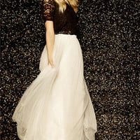 Scoop of Sorbet Cream Tulle Maxi Skirt