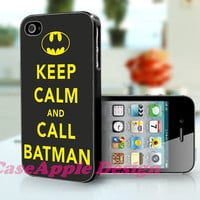 Keep Calm and Call Batman - Apple iPhone 4 Case iPhone 4S Case iPhone Hard Case iPhone 4 Case Cover