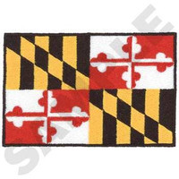 Maryland State Flag EMBROIDERED PATCH