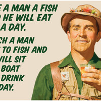 Teach a Man How To Fish - Mini Bottle Labels