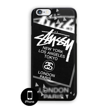 Stussy Black World Tour Ny La Tokyo London Paris iPhone 5, 5S Case