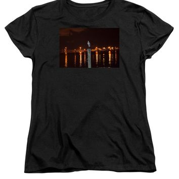 Blue Heron Night - Women's T-Shirt (Standard Fit)