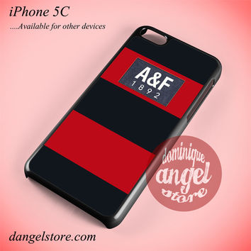 Red Abercrombie And Fitch Phone case for iPhone 5C and another iPhone devices