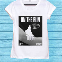Beyonce and Jay Z On The Run for t shirt mens and t shirt girls