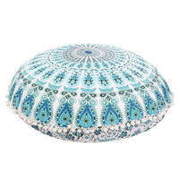 High Quality Large Mandala Floor Pillows Round Bohemian Meditation Cushion Cover Ottoman Pouf