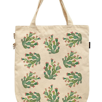 Women Cactus Forest Printed Canvas Tote Shoulder Bags WAS_39